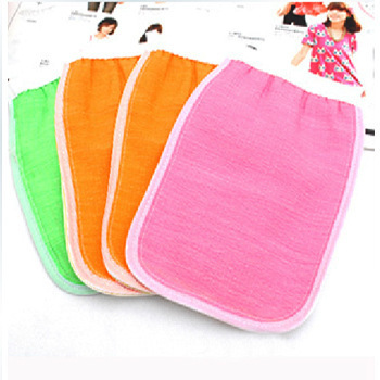 Soft Double-sided Thickening Rayon Material Bath Rub Back Gloves Rubbing Towel 22*14cm Low Stimulating Skin Drop Shipping
