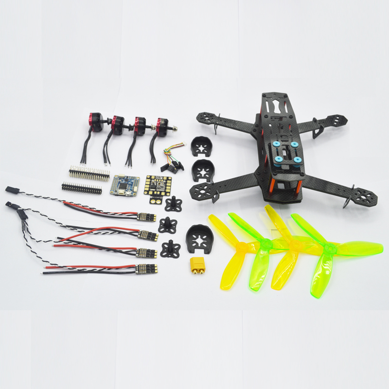 FPV Mini 250 250mm Carbon Fiber Frame Drone Quadcopter 4mm arms F4V3 motor ESC battery propeller charger remote cotrol cameraFPV Mini 250 250mm Carbon Fiber Frame Drone Quadcopter 4mm arms F4V3 motor ESC battery propeller charger remote cotrol camera