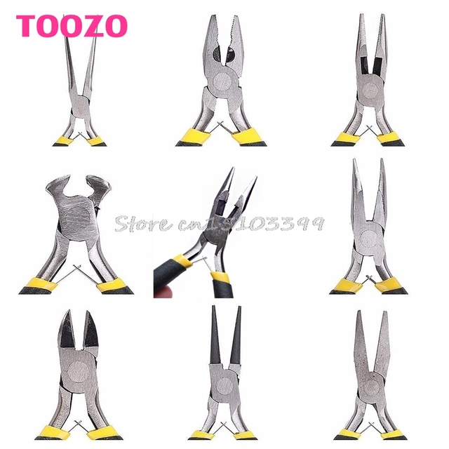 8style Jewellery Making Tools Beading Pliers Round Flat Wire Side Cutters Kit G08 Drop Ship