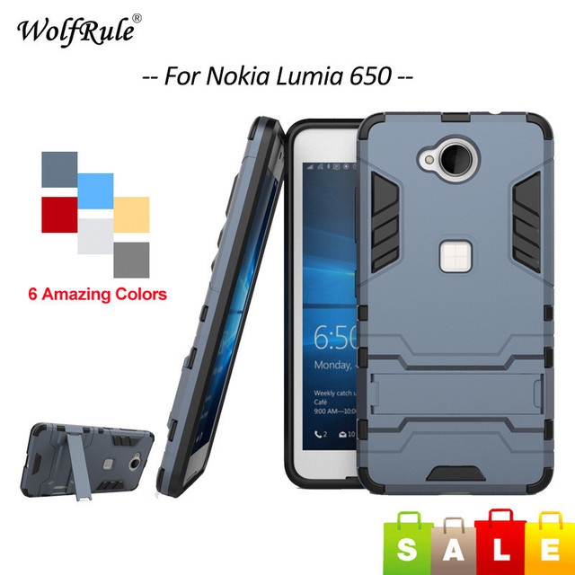 separation shoes c2b45 37543 US $2.68 37% OFF|sFor Cover Lumia 650 Case Shockproof Soft TPU & PC Stand  Phone Cover For Microsoft Nokia Lumia 650 Case For Lumia 650 Cover <-in ...
