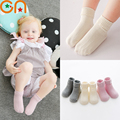 3 pairs / lot Baby socks Girl Infant fashion Solid Wild cotton socks Summer Hot Selling Children Silicone non-slip kids socks CN
