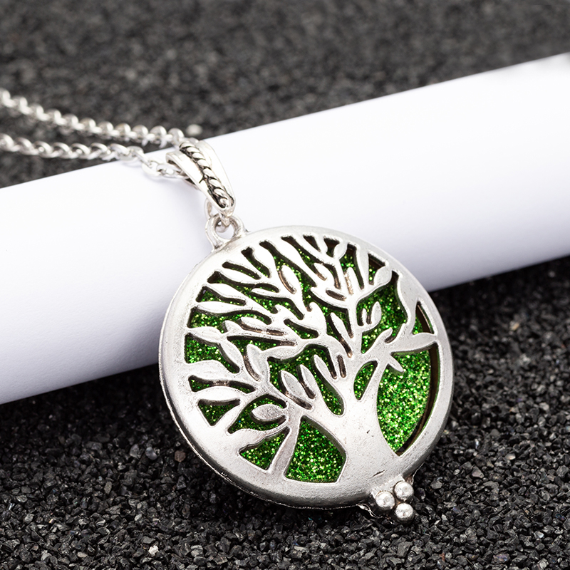 Tree Necklace Open Lockets Pendant 1