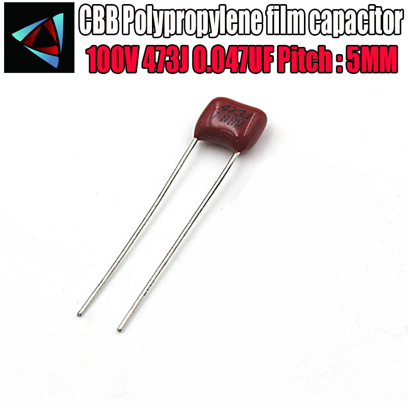 50PCS CBB21 473J 400V 0.047UF 47NF P10 Metallized Film Capacitor