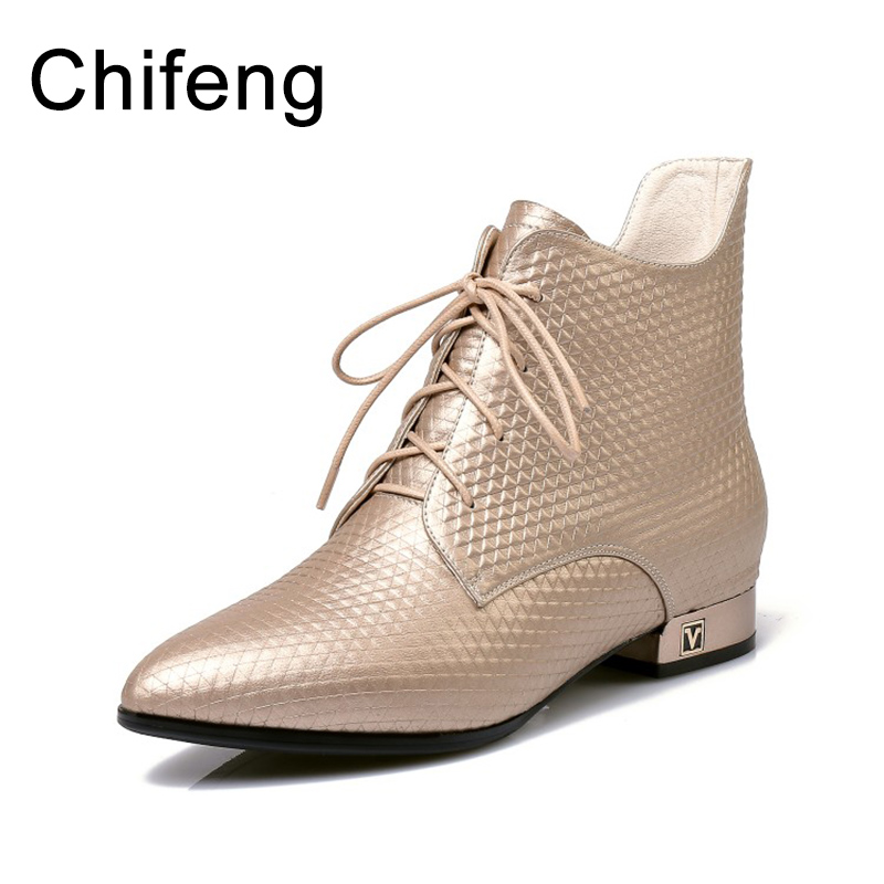 ankle boots for women shoes womens winter boots fashion women's genuine leather shoes 2017