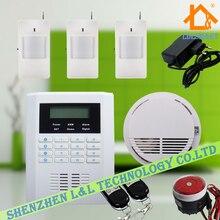 Беспроводной Домашней Сигнализации Английский Русский Испанский Голос 99 Беспроводной + 2 Проводных Зон ЖК GSM PSTN Безопасности Дома Охранная сигнализация