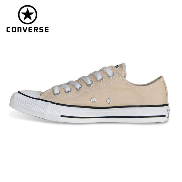 d636d03bc0b0b2 NEW CONVERSE Chuck Taylor All Star shoes beige color Original men s and  women s low sneakers Skateboarding Shoes 160459C