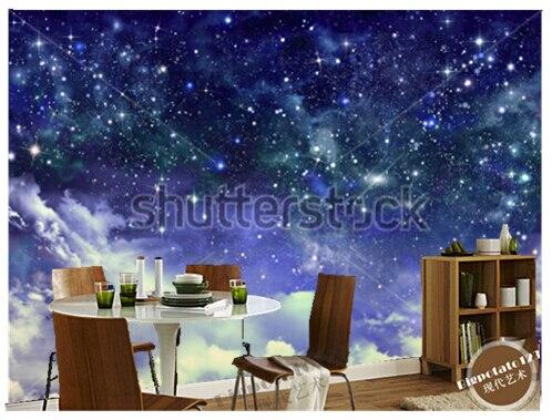 US $14.65 51% OFF|Benutzerdefinierte tapete für zimmer, Große wandbilder  sternenhimmel ist in der schlafzimmer kinderzimmer decke wand vinyl papier  DE ...