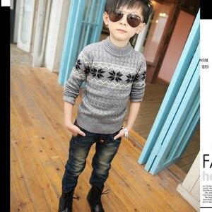 Image 3 - Boys pants Autumn Children Jeans 2019 Spring Boys Kids Pencil Pants Denim Trousers. Suitable: 4 6 8 10 12 14  years old