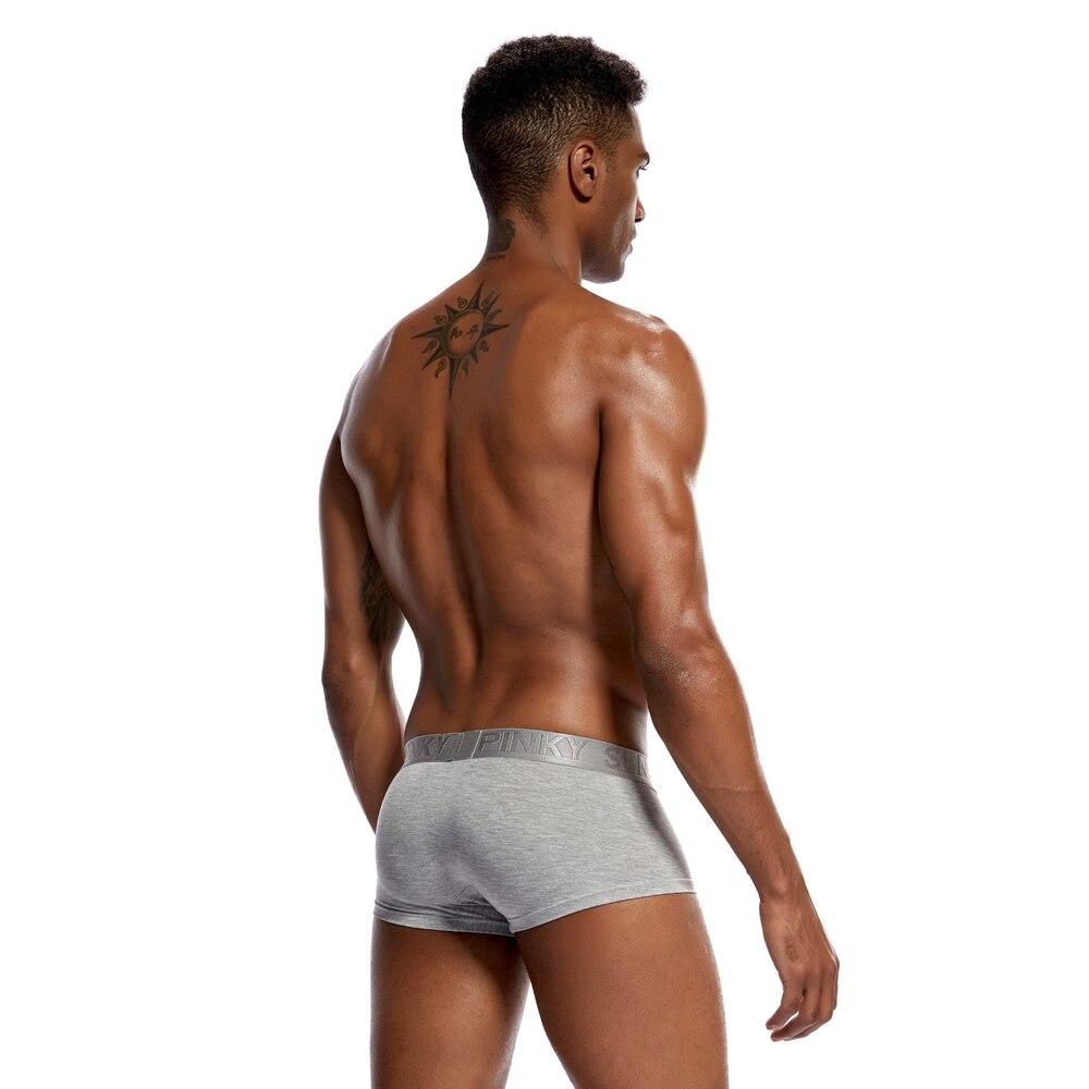 Pinky Senson Soild Bright Color Male Underpants Sexy Men Boxers Shorts Cotton Men Underwear Push Up Hips Knickers