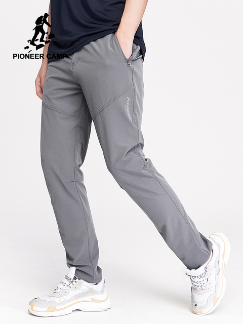Pioneer Camp Men's Summer Quick Dry Pants Outdoor Sport Trousers Hiking Trekking Fishing Casual Camping Male Pants AXX902152