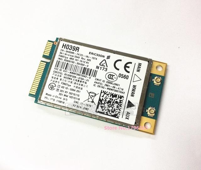 Ssea new unlocked ericsson f3607gw 3g gps wwan pci-e cartão wi-fi sem fio para dell e6400 e6500 e6510 e4200 5540