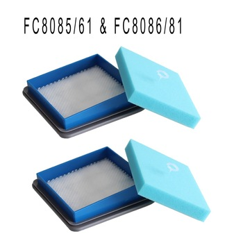 2-Set Clean Doll Motor Foam Sponge HEPA Filter for vacuum cleaner Philips filters Electrolux FC8085 FC8086 Filters Сумка