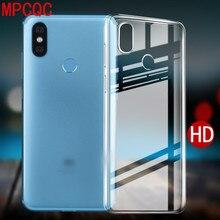 MPCQC Transparent Crystal Clear Silicon Back Cover Phone Case For Xiaomi Mi 8 Lite A2 Mix 2 2S 3 6X 5X Redmi 6 6A Note 5A 5 4 4X