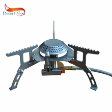 Desert&Fox 3500W Outdoor Gas Stove Automatic Camping Picnic Cooking Tools Folding Portable with Wire Hose