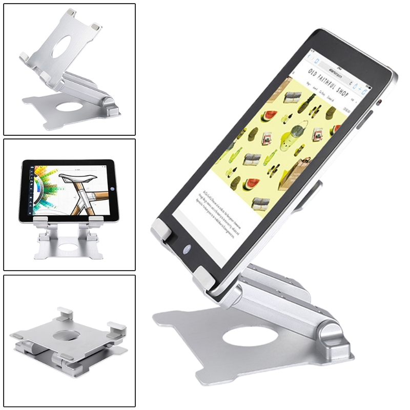 Aluminium Tablet Holder Folding Desktop Mount Tablet Stand Support Holder for iPad Surface Pro цена и фото