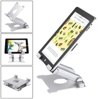 Aluminium Tablet Holder Folding Desktop Mount Tablet Stand Support Holder for iPad Surface Pro