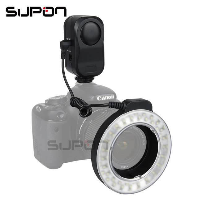 SUPON W48 200LM LED Macro Ring Flash Verlichting met Ring Diffuser ...