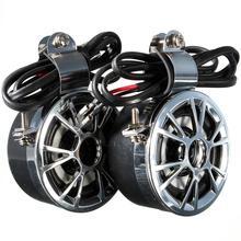 Súper fuerte + altavoz estéreo amplificado impermeable universal moto de la motocicleta manillar cuerno 12 v 15-30 w para honda para yamaha