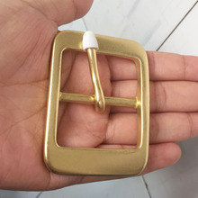 4cm Solid Brass Mens Belt Buckle Pure Pin Buckles With Jeans Accessories Cowboy Head DIY Leather For 3.8cm Width belt