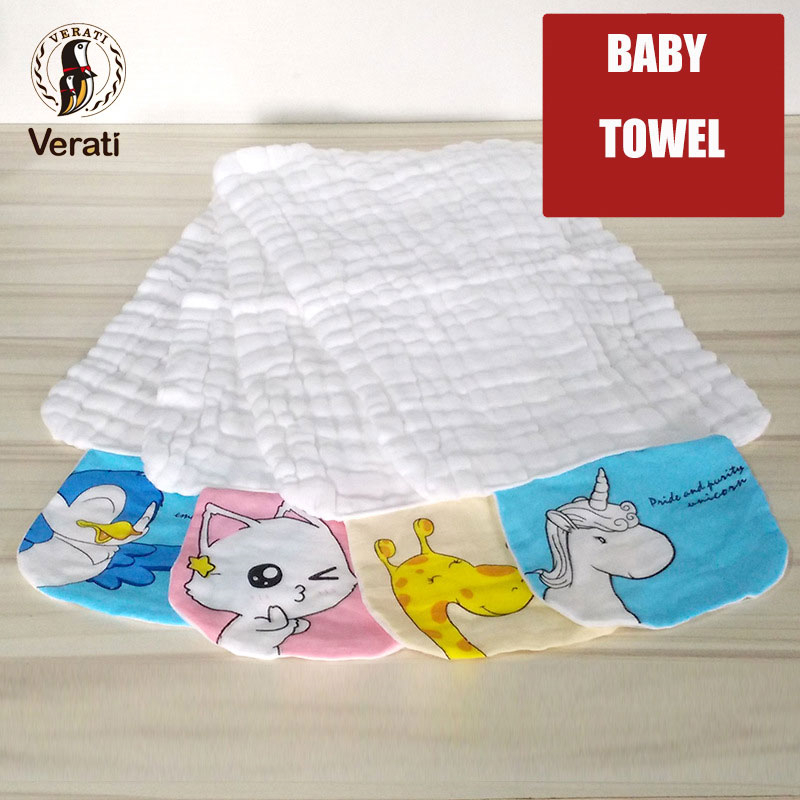 VERATI Baby Cotton Washed Gauze Sweat Towel 100% Cotton Soft Towel For Newborns Absorb Breathable Infant No Fluorescence V076 ...