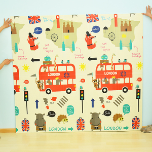 Image 4 - Infant Shining Reversible Baby Play Mat Cartoon Soft Mat Big Size 180*200*1CM Thickened Kids Rug Game Pad Playmat for Children
