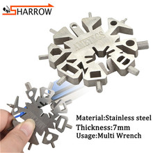 1pc 21-In-1 Hex Wrench Arrow Tail Adjuster Tool Snowflake Multifunction For Outdoor Hunting Shooting Archery Accessories