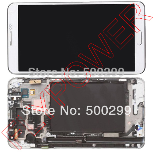 For Samsung Galaxy Note 3 N9000 N9002 N9006 N9008 N9009 LCD with Digitizer and Frame Assembly White color by free shipping