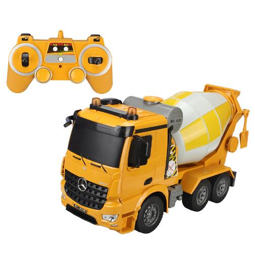 RC Truck  2.4G Larger Cement Mixer Radio Control Construction Vehicle Model Hobby Toys For Children Birthday Gifts