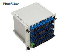 1 x 32 SC/UPC Branching Fiber Optical Box Splitter Cassette Card Insertion T ABS PLC Splitter box,FTTH 1X32 Planar waveguide