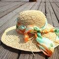 Nuevo de Las Mujeres Casquillo de la Playa del Sombrero Del Sol Del Verano Sombrero de Paja Grande Ancho de Ala Plegable Sombrero de Ala Ancha
