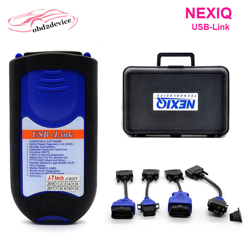 2017 heavy truck repair software NEXIQ USB Link with All Installers 24V heavy diesel duty scanner auto diagnostic tools  цены