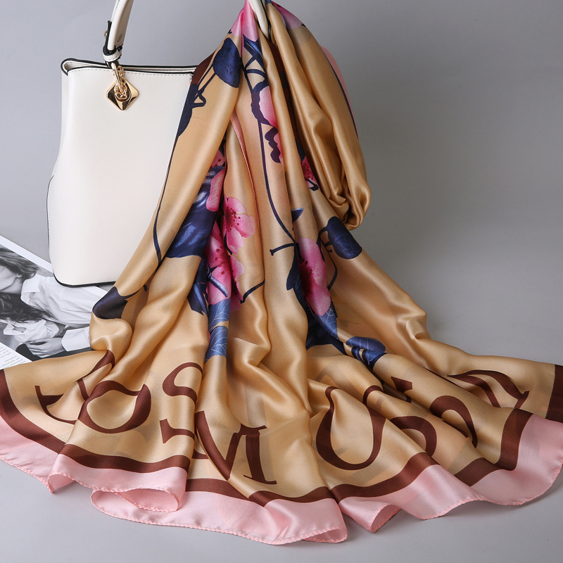 2019 New Women Silk Scarf Female Chinese Style Hangzhou Spring Joker Summer Luxury Scarf for Women Long Shawl Scarves 180 90cm in Women 39 s Scarves from Apparel Accessories