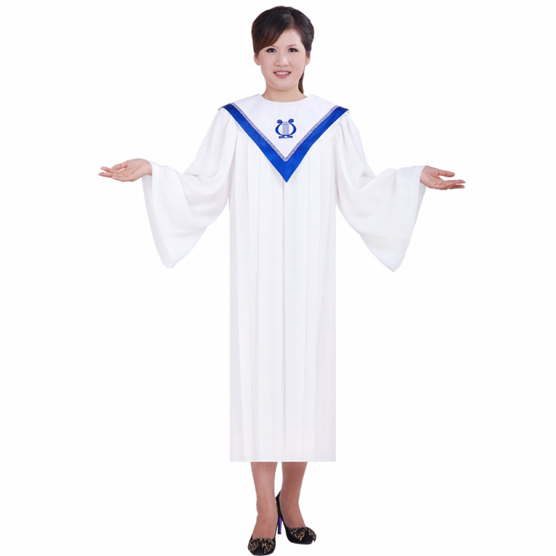 Christian Church Gospel Choir Robe Gown Costumes For Adults Psalm Robes Long Church Clothing For Adults Black Friday White Robe