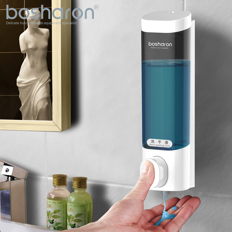 Hand Soap Dispenser Wall Mount 300ml ABS Detergent Hand Sanitizer Shower Gel Shampoo Dispensers Bottle Home Bathroom Accessories