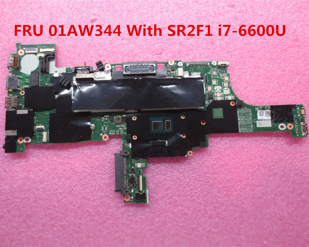 US $244 4 6% OFF For lenovo THINKPAD T460 Laptop Motherboard FRU 01AW344  BT462 NM A581 With SR2F1 i7 6600U CPU DDR3L MB 100% Tested Fast Ship-in