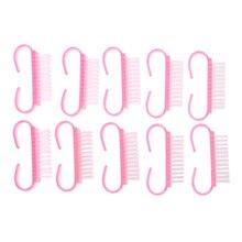 10 ШТ. Профессиональный Щетки Для Ногтей Практическая Пыль Щетка Для Очистки Пластиковой Ручкой Педикюр Маникюр Инструменты