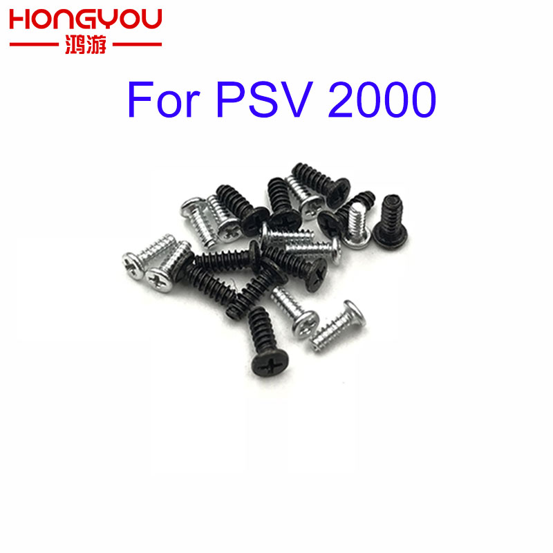 10pcs Silver Black Housing Philips Head Screws Set For PS Vita PSV 2000 Game Console Shell For PSVITA PSV 2000