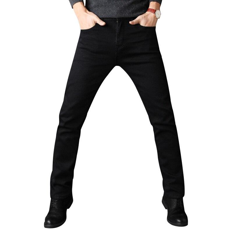 New Arrival Fashion Slim Thin Black Jeans Mem Fashion Casual Classic Style Elastic Force Skinny Trousers Male Brand Denim Pants