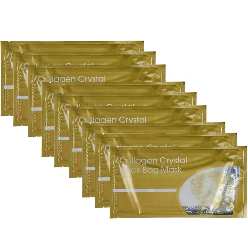 10pcs/lot Collagen Crystal Neck Mask Moisturizing Anti Wrinkle Anti Aging Lifting Nourishing  Neck Whitening Mask Skin Care