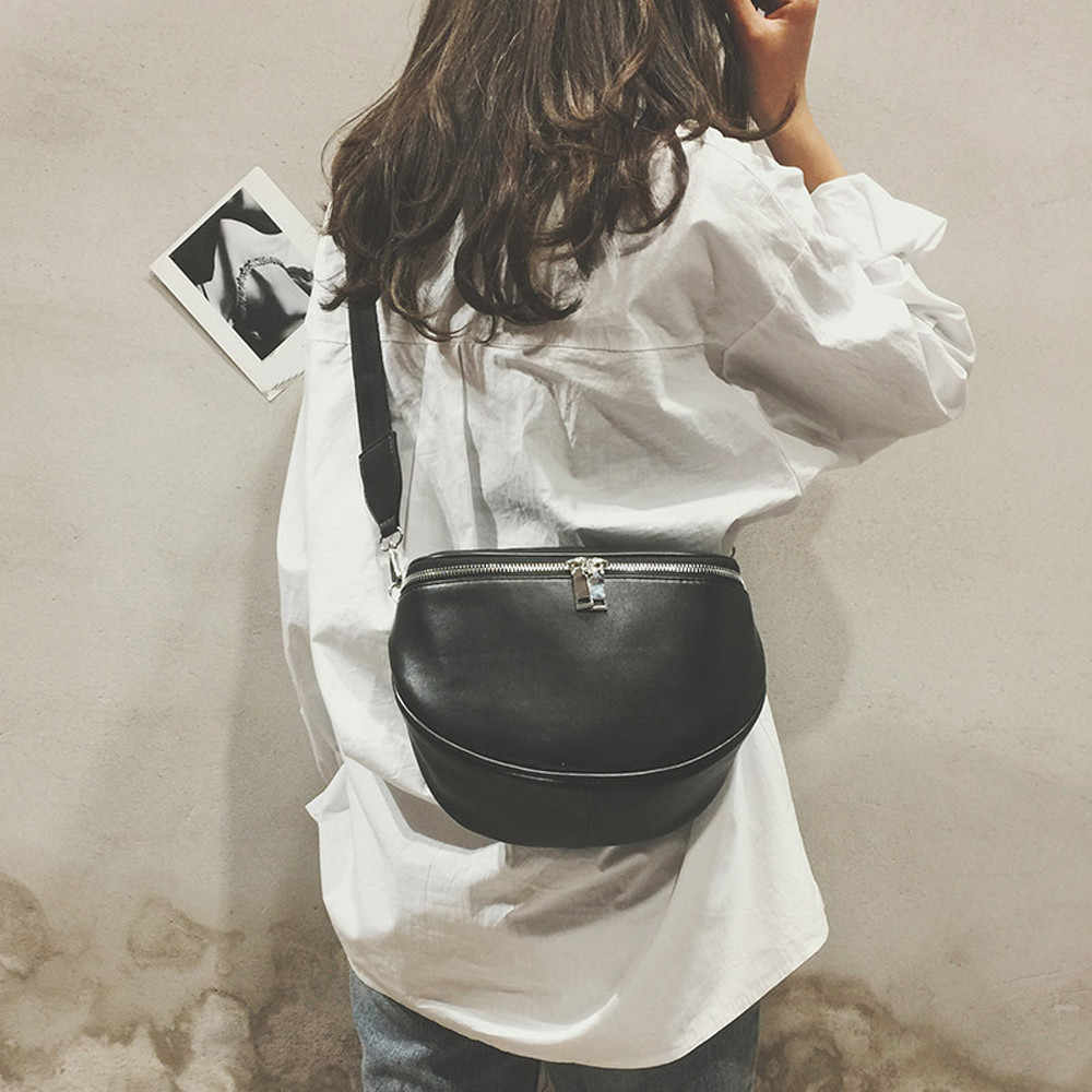 Fashion Pure Color Women Leather Shell Messenger Shoulder Bag Bust Bag Crossbody Bag Money Phone Travel  #Zer