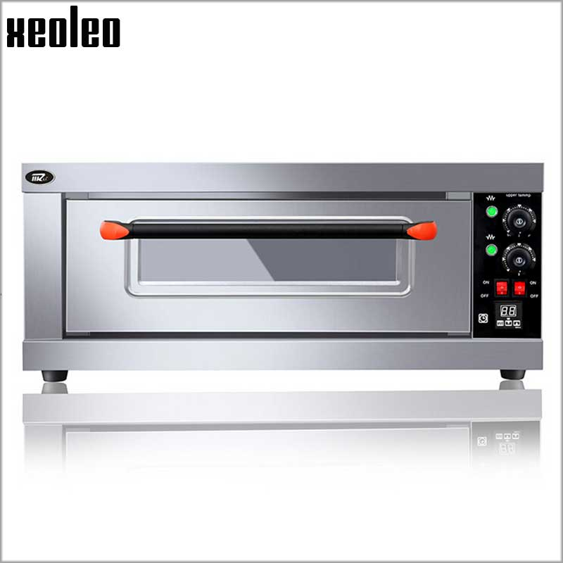 XEOLEO 1 Layer 1 Tray Electric Oven Pizza oven with timer Baking machine Commercial Stainless Steel Cake/Bread Oven 3200W