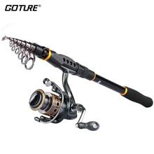 Goture Rod Combo GTV Spinning Reel 2000-4000 Series Sword Fishing Rod 2.1M/2.4M/2.7M/3.0M/3.6M Telescopic Fishing Rod Set