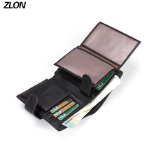 ZLON Top Genuine Leather Men Hasp Wallet New 11 Card Hoder Fashion Brand Male Wallets Purse Coin Bags Men's Wallets Q340