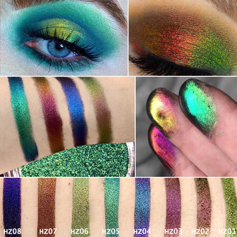 0.2G Hot Bunglon Pigmen Bunglon Eyeshadow Multi Chrome Eyeshadow Prismatic Eye Langit Lahir Mengkilap Glitter Eyeshadow Palet