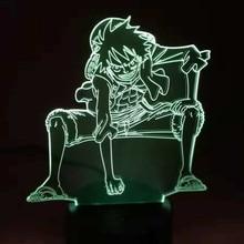 One Piece 3D LED Night Light Lamp
