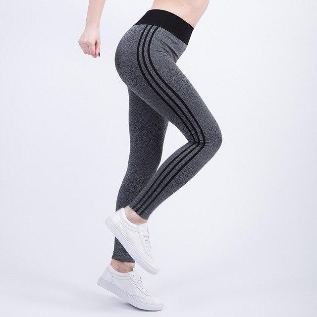 GYM Vêtements Femmes Cheville Longueur De Yoga Pantalon Haute Élastique  Courir Entraînement Musculation Sport Fitness Leggings 1a881817e43