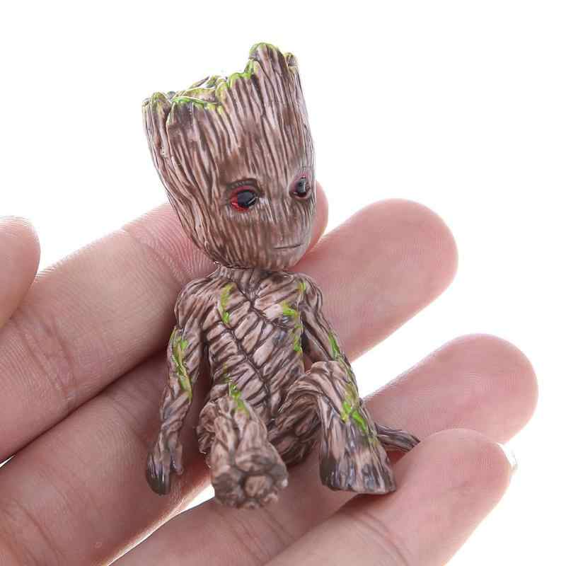 Guardians Tree Man Baby Sitting Collectible Toy Cartoon Mini Model Action Figure Doll Toys Funny Collection Desktop Decor Gift