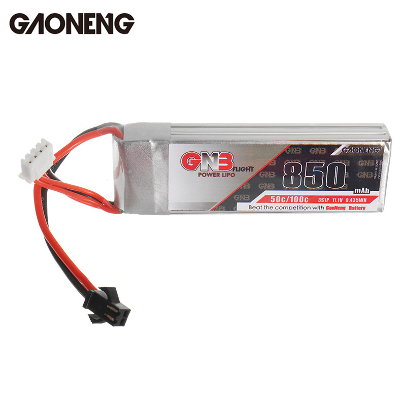 High Quality Gaoneng GNB 11.1V 850mAh 50C 3S Rechargeable Lipo Battery SM Plug for RC Airplane Helicopter Spare Part Accessories 3 6v 2400mah rechargeable battery pack for psp 3000 2000