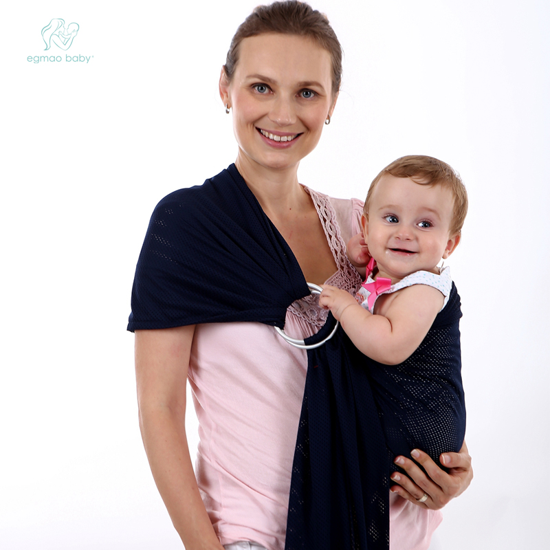 Breathable Soft Cotton Baby Wrap Carrier Backpack Copper Ring Baby Sling Carrier Stretchy Baby Wrap Carrier with Cheap Price