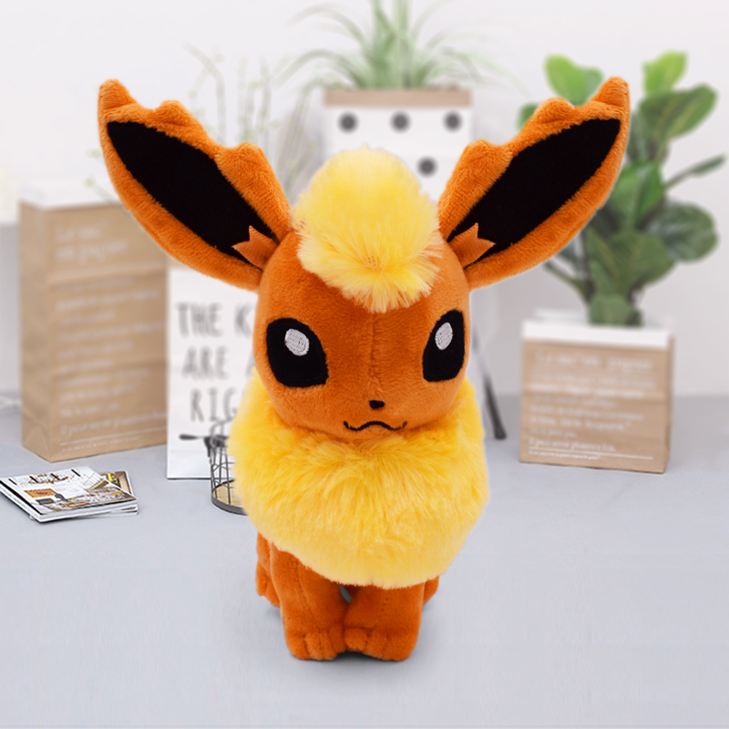 New Flareon Sitting Pose Peluche Doll Anime Figure Plush Brinquedos Kids Toys Gift Juguetes 18-21cm Baby Toy Free Shipping